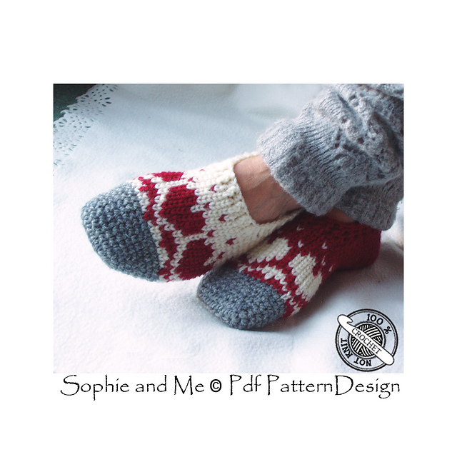 Ravelry Snow Heart Slippers Pattern By Sophie And Me Ingunn Santini