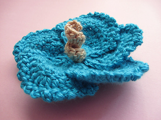 Free Crochet Pattern For Hibiscus Flower : Ravelry: Hibiscus Flowers, Large and Small pattern by ...