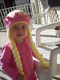 18e93372b52 Princess Hat With Crown and Braids ...