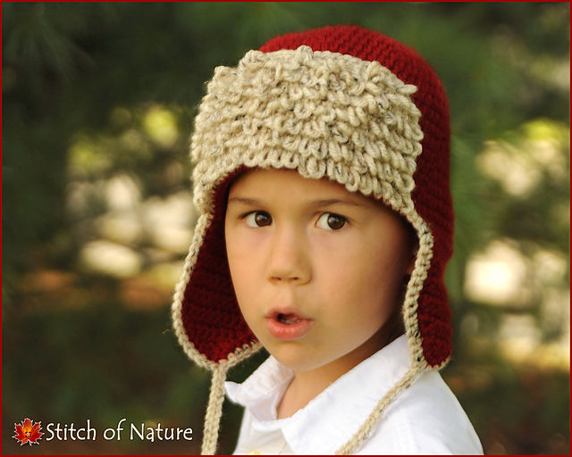c96e7999c76 Ravelry  The Red Baron Aviator Hat pattern by Jenia Daugherty