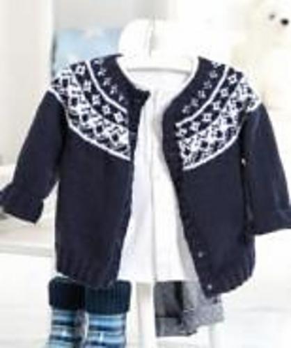 Ravelry: S8085 Baby Fair Isle Yoke Cardigan pattern by Schachenmayr