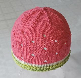 05d9f51337ec31 Ravelry  Watermelon Baby Hat pattern by Stitchylinda Designs