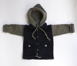 050f6c0927ee Ravelry  Baby Hoodie Jacket pattern by Katherine Teixeira