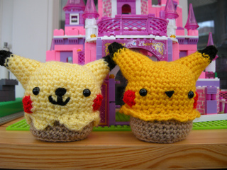 Amigurumi Patterns Pikachu : Ravelry: pikachu cupcake amigurumi pattern pattern by sylvia tran