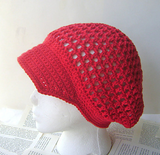 Ravelry  Crochet Mesh Hat with Brim 92a986eb697