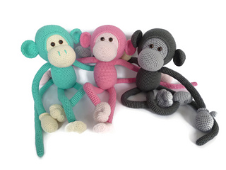 Amigurumi Monkey Patterns : Ravelry mike the monkey pattern by irene staal sugaridoo