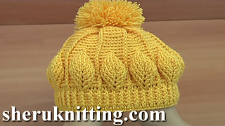 Ravelry: Crochet Beanie with 3D leaves 146 pattern by Sheruknittingcom
