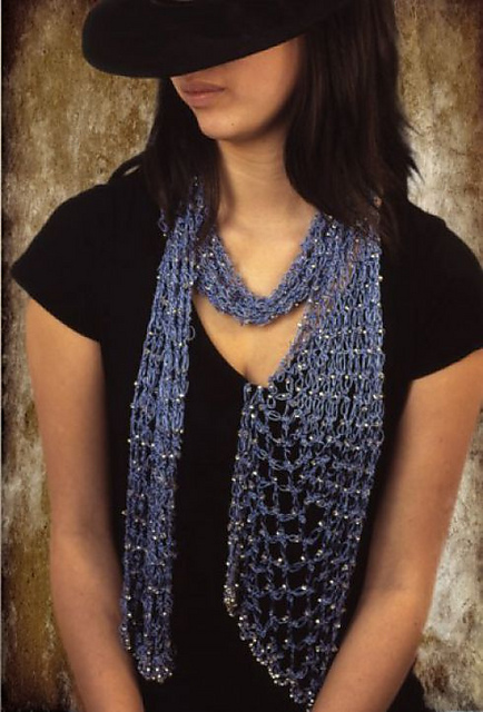 Ravelry Cleo Beaded Scarf Pattern By Swallow Hill Creations