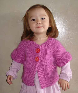 52a58da0ed5ff Ravelry   72 Child s Top-Down Short-Sleeved Cardigan pattern by SweaterBabe