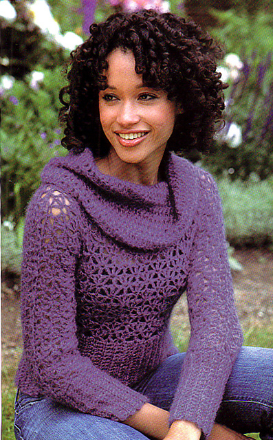 Ravelry: Lush Cowl-Neck Sweater pattern by SweaterBabe