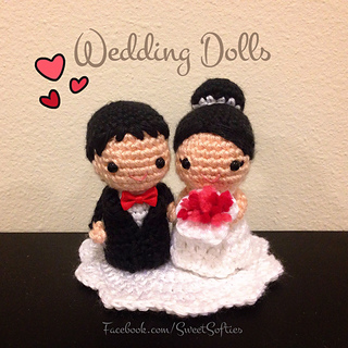 http://www.sweetsofties.com/2016/02/bride-groom-wedding-dolls.html