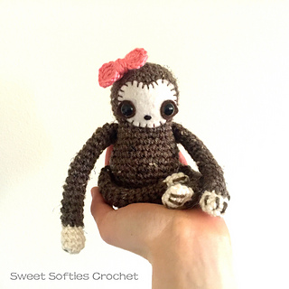 http://www.sweetsofties.com/2016/04/baby-sloth-plushie-with-bow.html
