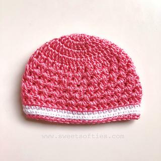 http://www.sweetsofties.com/2018/05/babys-lacy-beanie-free-crochet-pattern.html