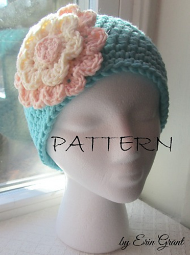Ravelry Chemo Cap With Flower Pattern By Erin Grant