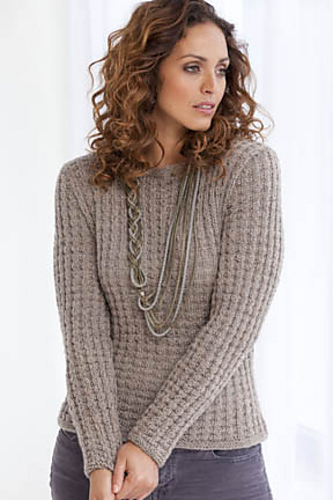 Ravelry Biella Waffle Weave Pullover Pattern By Rosemary Drysdale