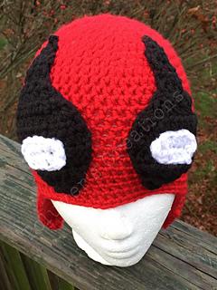 Ravelry  Deadpool Earflap Hat pattern by Rachelle Bowman 04f0c446bab