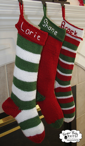 Ravelry Knit Christmas Stocking Pattern By Sugar Baby Knits
