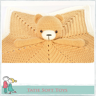 Ravelry Free Lovey Blanket Bear Security Blanket Teddy Pattern By Tatie