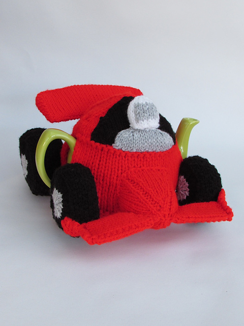 Ravelry: Formula One Racing Car Tea Cosy pattern by Susan Cowper