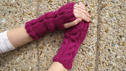Ravelry: Cwtchy Cable Armwarmers / Wristwarmers pattern by Sarah ...