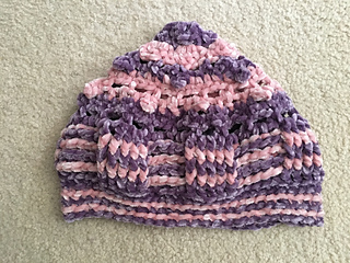 Ravelry  Bernat Velvet Texture Hat pattern by Donna Bondy aka The-Crochet -Ninja 785ac891b9b