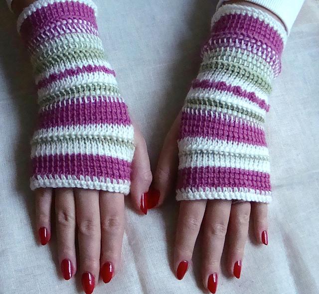 Ravelry Tunisian Crochet Fingerless Gloves Pattern By Diane Stewart