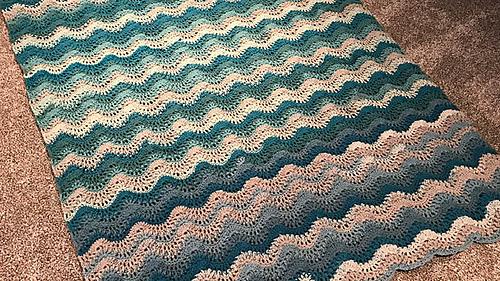 Ravelry Breaking Waves Afghan Pattern By Michael Sellick