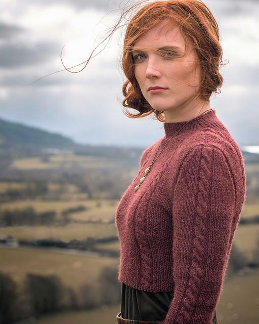 Modèle de chandail tricoté Ouse Bridge par Francesca Hughes