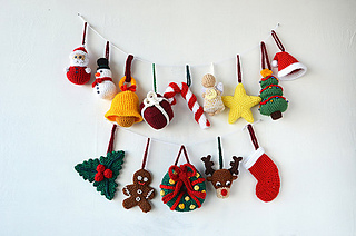 Ravelry Christmas Ornaments Pattern By Joyce Overheul