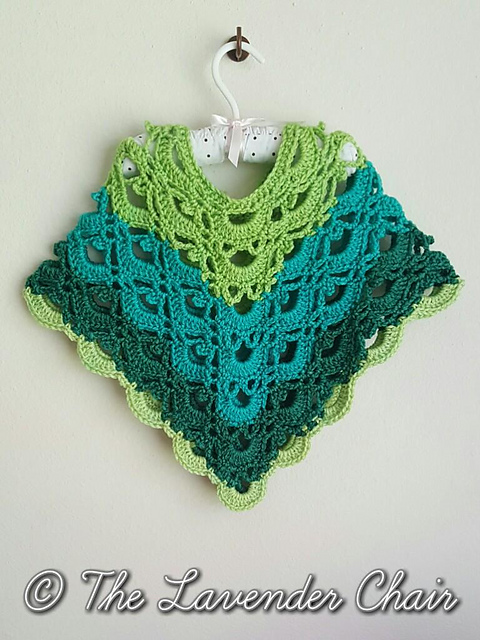 Ravelry Gemstone Lace Toddlerchild Poncho Pattern By Dorianna Rivelli