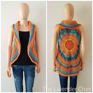 Ravelry Sunset Mandala Circular Vest Pattern By Dorianna Rivelli