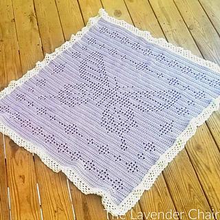 Ravelry Filet Butterfly Blanket Pattern By Dorianna Rivelli