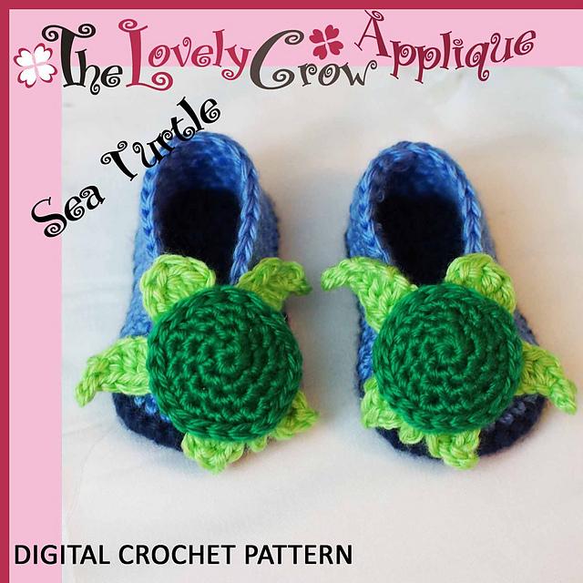 Ravelry Applique Sea Turtle Booties Pattern By Elizabeth Alan