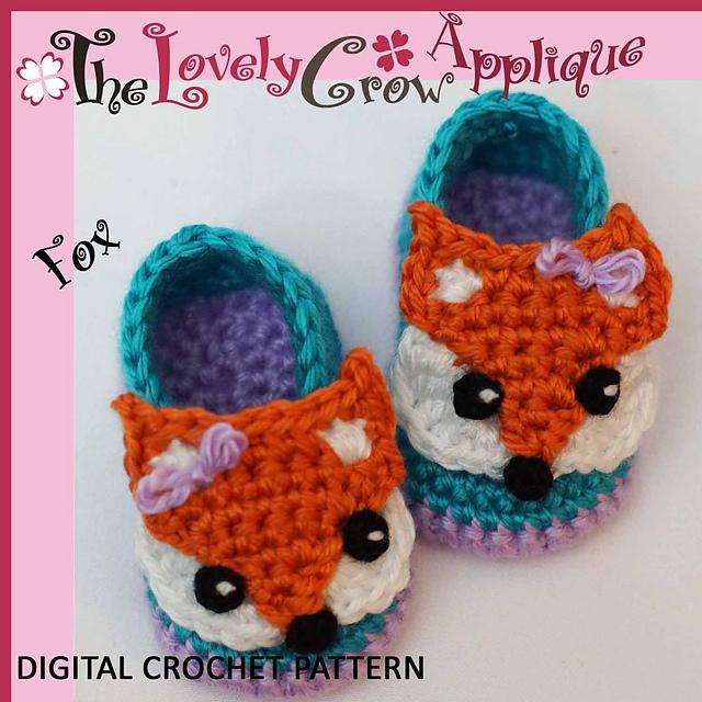 Ravelry Applique Fox Booties Pattern By Elizabeth Alan