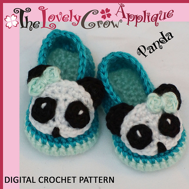 Ravelry Applique Panda Booties Pattern By Elizabeth Alan