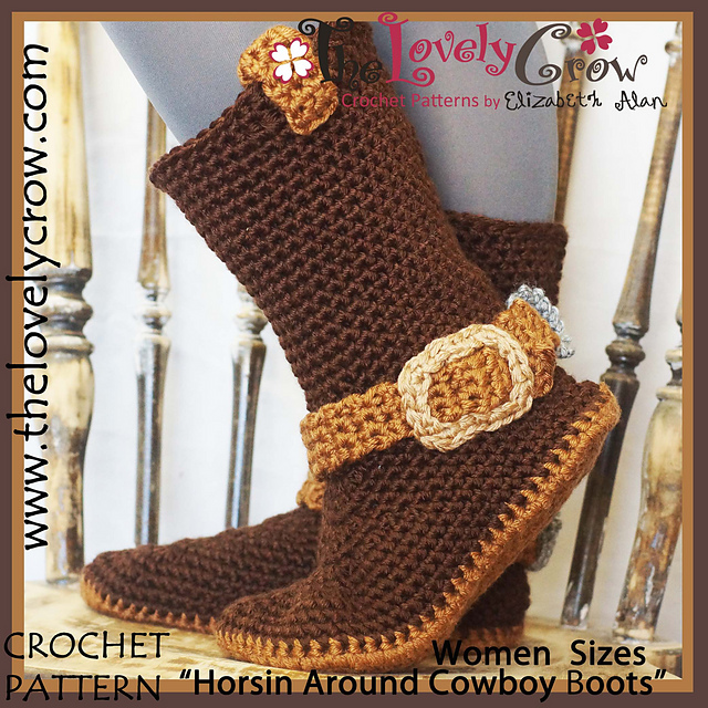 Ravelry Horsin Around Cowboy Boots Women Sizes Pattern By
