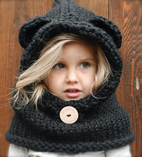 Burton Bear Cowl pattern by Heidi May