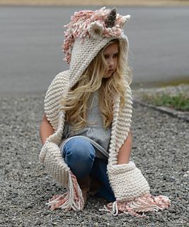 Ravelry  Unice Unicorn Hood pattern by Heidi May db724741e48