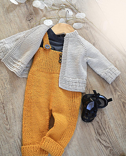 5d30b9dbe Ravelry  Tiny tots top down cardigan and overalls - P116 pattern by OGE  Knitwear Designs