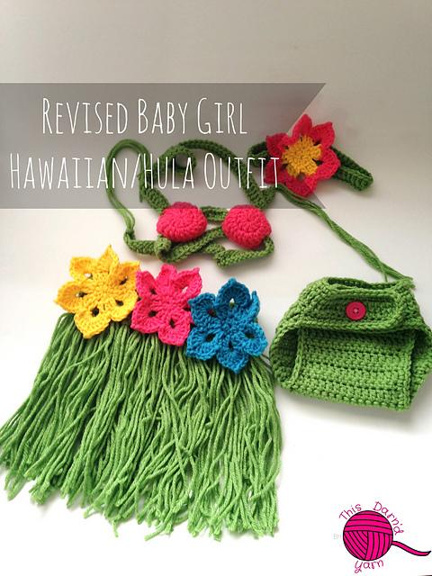 Ravelry: Newborn Baby Girl Hawaiian Outfit pattern by Britney Hannaford