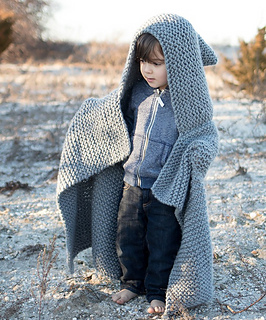 2b228cbc12dc Ravelry  Chunky Hooded Baby Blanket pattern by Gina Michele
