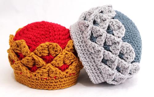 Ravelry  Royal Crocodile Crown Hat pattern by Thomasina Cummings Designs d9cd84a0b58