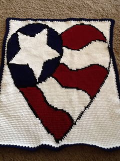Ravelry Red White And Blue Heart Pattern By Courtney Carter