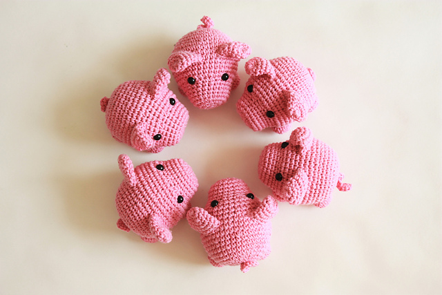 Ravelry Amigurumi Little Pig Pattern By Happyamigurumi