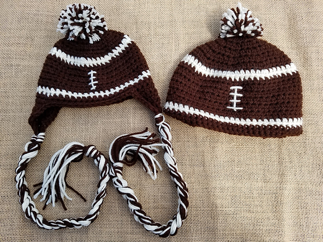 patterns   To Craft A Home s Ravelry Store.   Football Hat 2ea6ee467