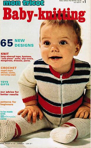 Ravelry Mon Tricot No 12 Baby Knitting Fallwinter 1973 Patterns