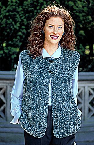 Knitting Vest Pattern : Ravelry garter yoke vest pattern by lion brand yarn