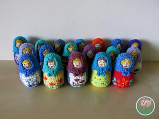 Amigurumi Russian Doll Pattern : Ravelry amigurumi matryoshka russian nesting doll pattern by