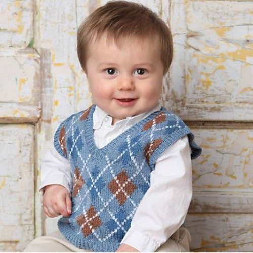 Ravelry: Baby Argyle Sweater Vest pattern by Sherrie Kibler