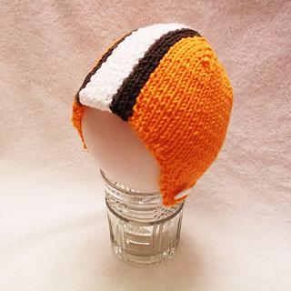 best website 03aac ea1ce Ravelry: Topazzi's Cleveland Browns Baby Helmet Hat